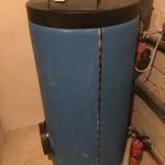 Warmwasserspeicher in Benutzung